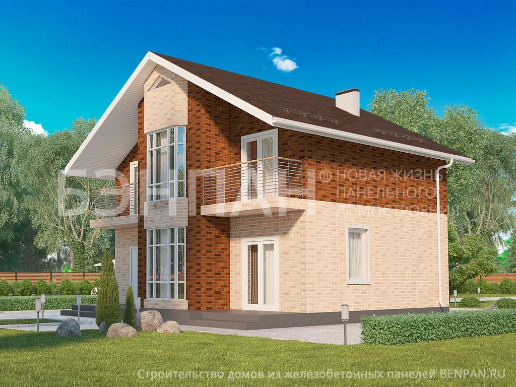 Строительство дома 138.50 м2 по цене от 2274112.71 рублей на апрель 2019 года