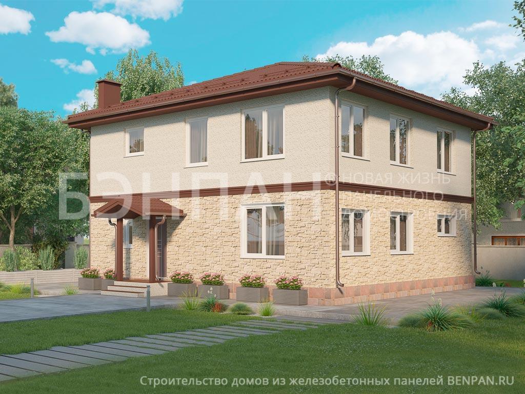 Строительство дома 188.00 м2 по цене от 2763946.87 рублей на февраль 2019 года
