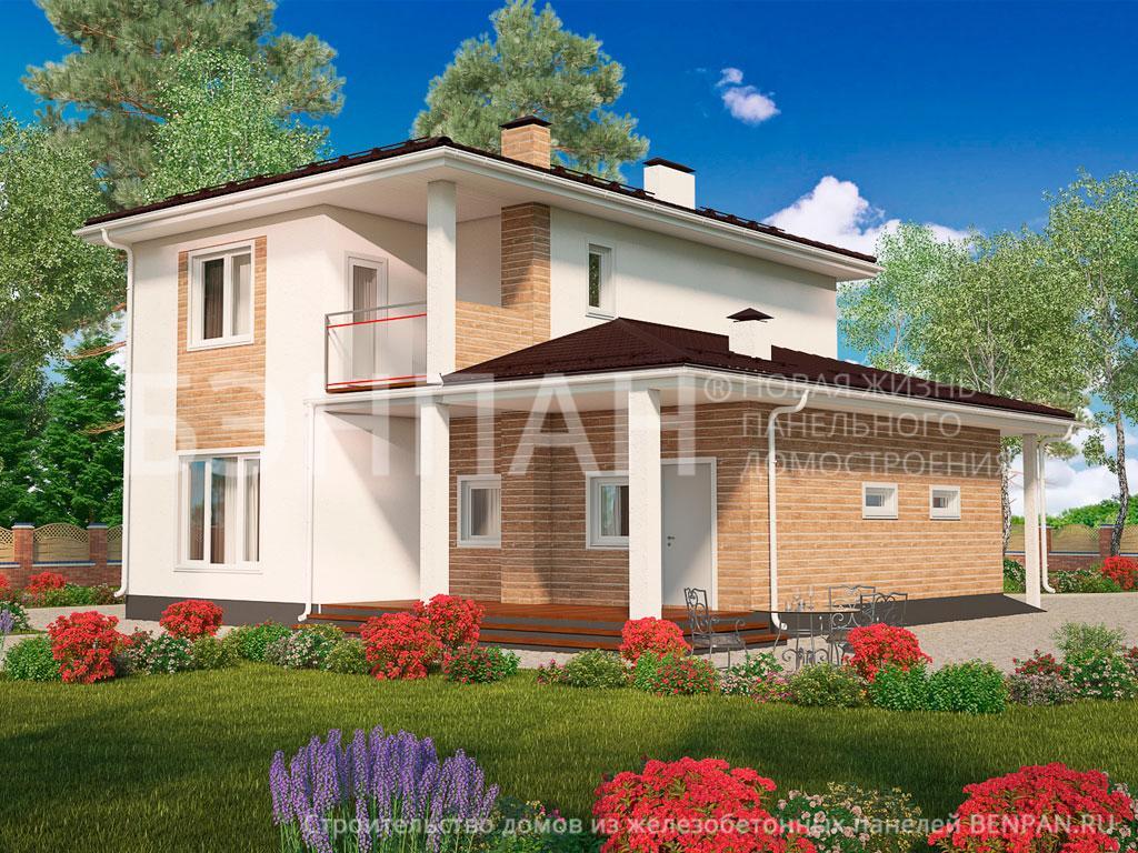 Фото дома МС-191 166.20м2, этажа 2, комнаты 5, проект для загородного дома