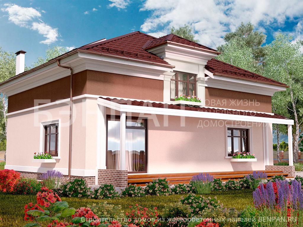 Фото дом со спальней на первом этаже, дом со спальней на первом этаже 185.20м2, проект для коттеджа