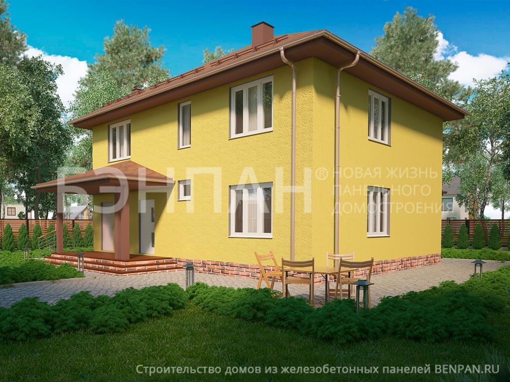 Фото дома МС-240 (без гаража) 195.90м2, этажа 2, комнаты 6, проект для загородного дома