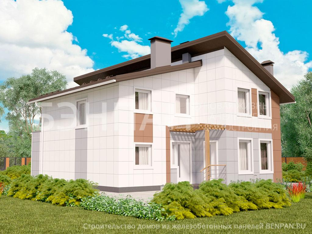 Фото дома МС-253/1 197.80м2, этажа 2, комнаты 6, проект для загородного дома