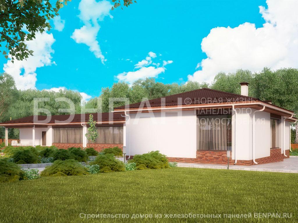 Фото дома МС-345 320.30м2, этажа 1, комнаты 6, проект для загородного дома
