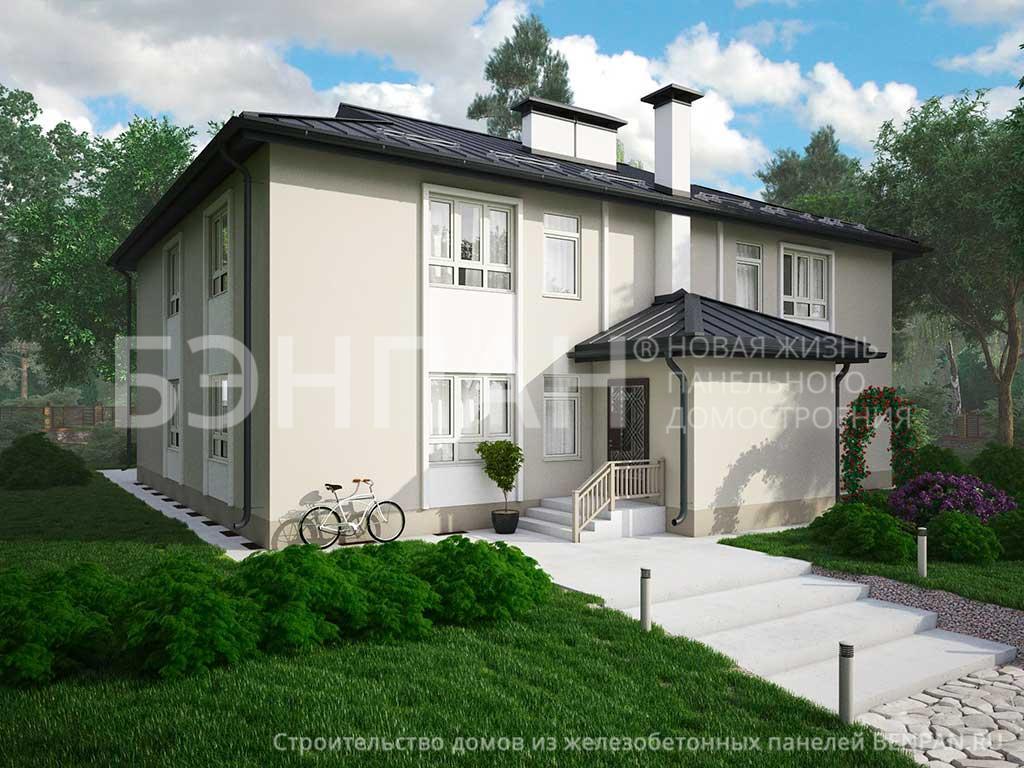 Фото дом со спальней на первом этаже 342.14м2, этажа 2, комнаты 12, проект для загородного дома