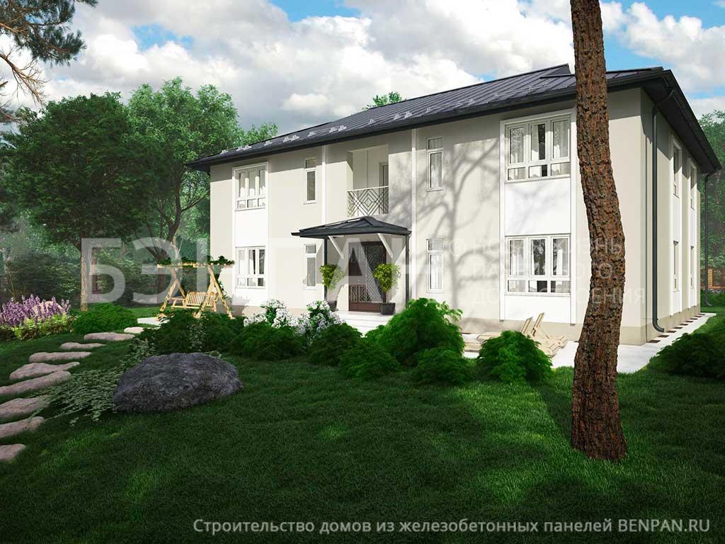 Фото дом со спальней на первом этаже, дом со спальней на первом этаже 342.14м2, проект для коттеджа