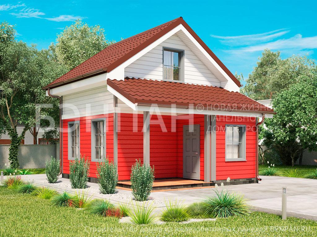 Строительство дома 45.40 м2 по цене от 1315134.34 рублей на июль 2019 года