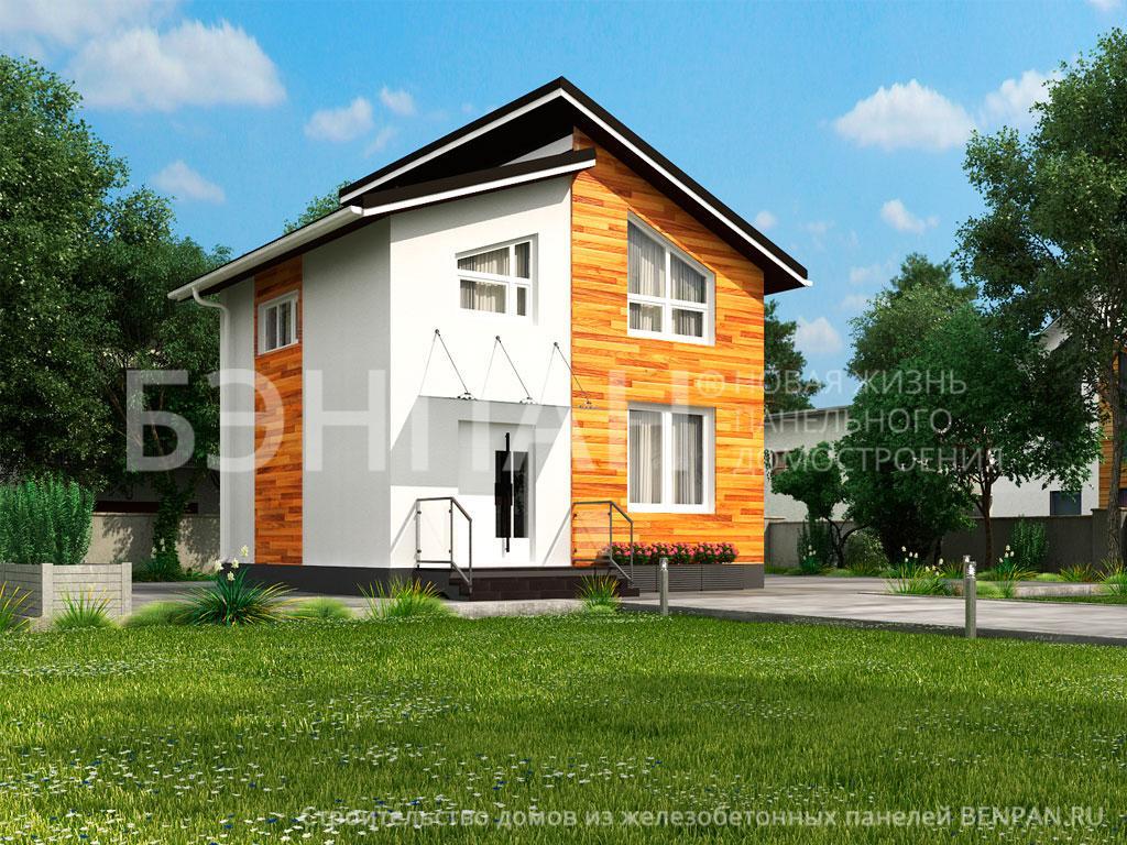 Строительство дома 74.70 м2 по цене от 1716099.95 рублей на август 2019 года