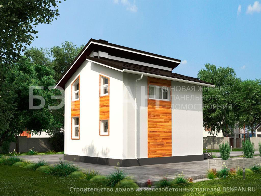 Фото дома МС-95/1 74.70м2, этажа 2, комнаты 4, проект для загородного дома