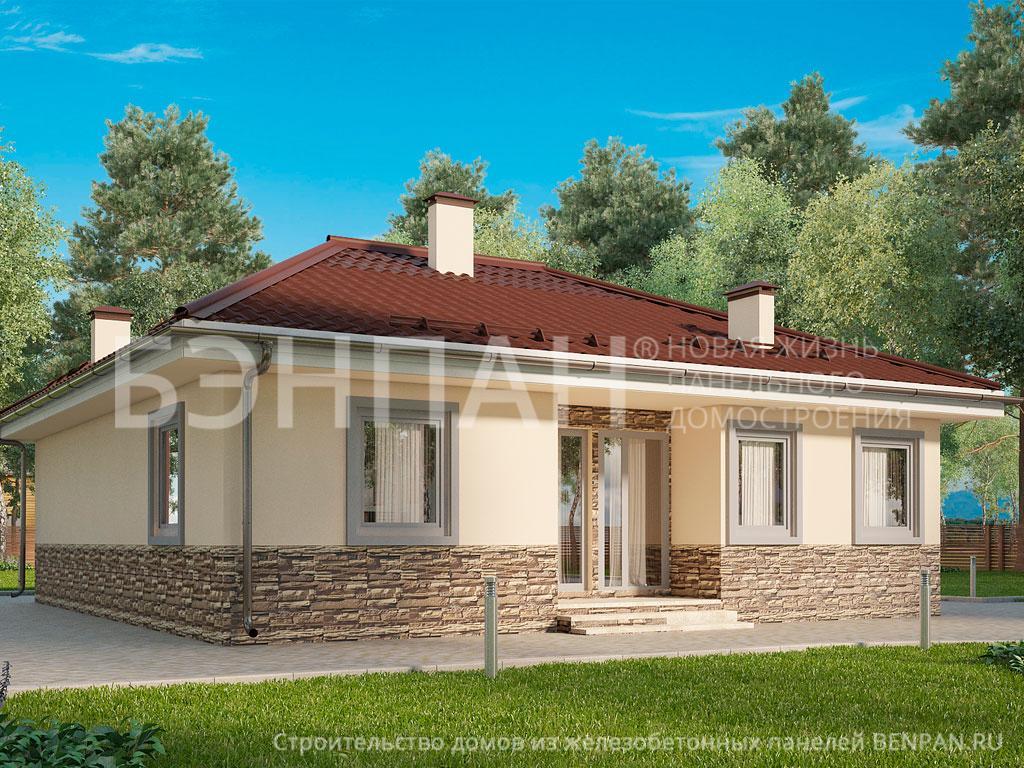 Строительство дома 91.10 м2 по цене от 1558545.86 рублей на февраль 2019 года