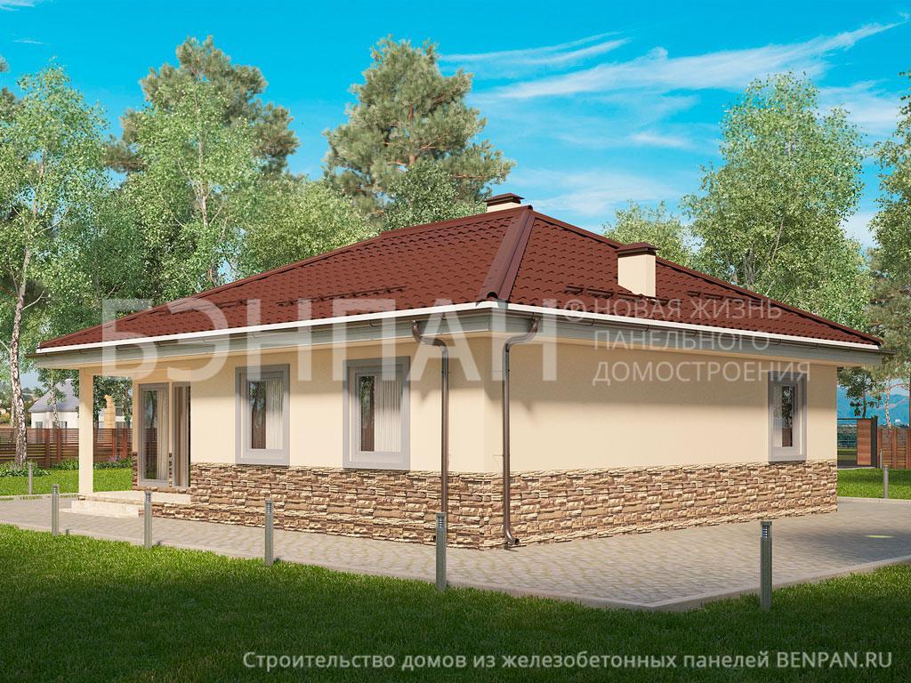 Фото дома МС-98 91.10м2, этажа 1, комнаты 4, проект для загородного дома