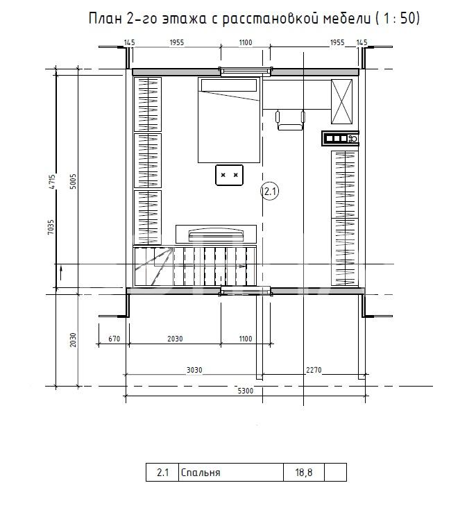 Планировка второго этажа проекта МС-51 июль 2019 года