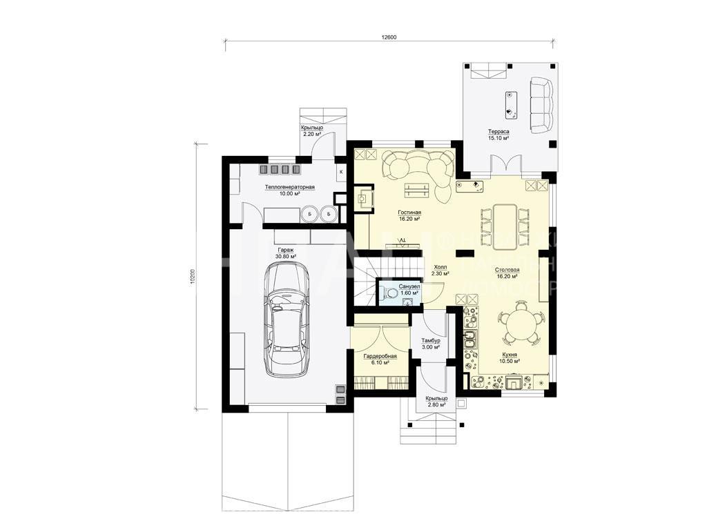 Планировка первого этажа проекта БП-185 март 2019 года
