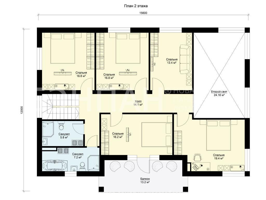 Планировка второго этажа проекта МС-272 март 2019 года