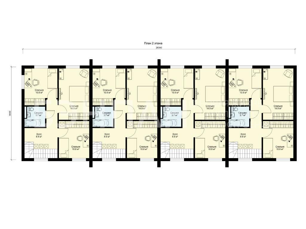 Планировка второго этажа проекта МС-425 апрель 2019 года