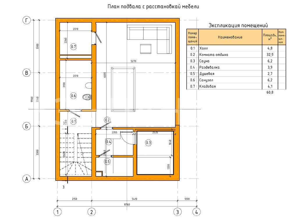 Планировка первого этажа проекта МС-164/1/К июнь 2019 года