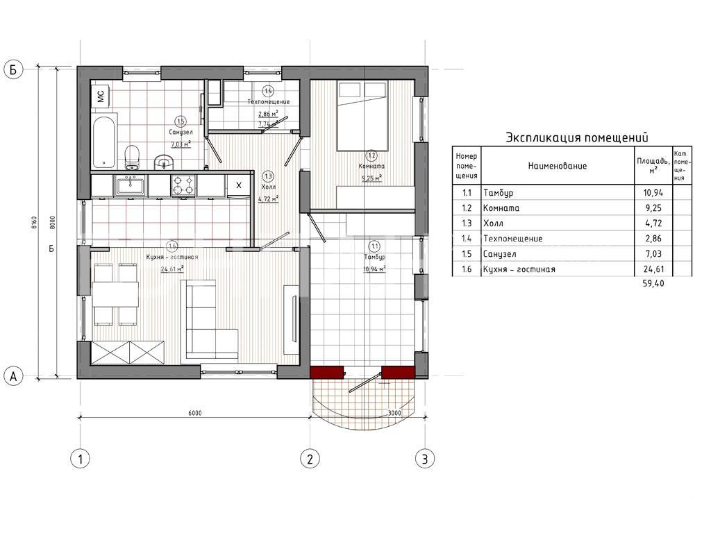 Планировка второго этажа проекта МС-72 август 2019 года