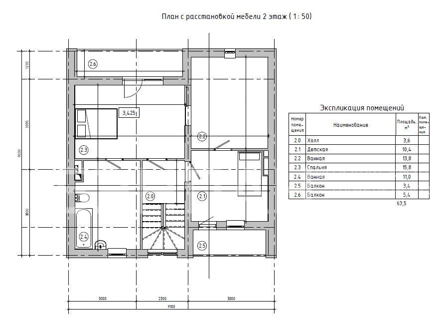 Планировка первого этажа проекта МС-146/2 февраль 2019 года